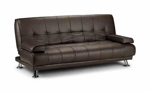 Cierna rozkladacia sedacka - kozena