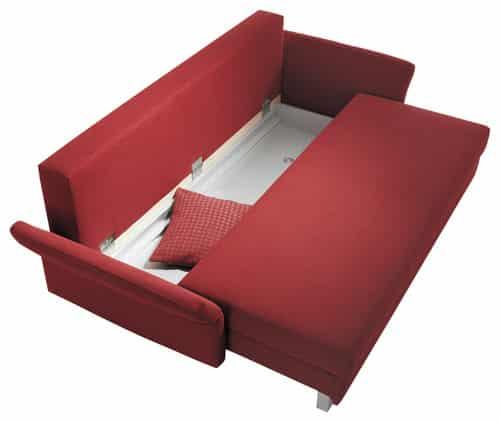 Cervena rozkladacia sedacka