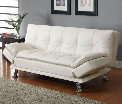 Moderna rozkladacia sedacka - biela
