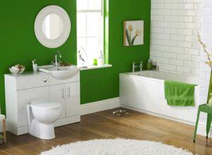 Malá zelená kúpeľňa