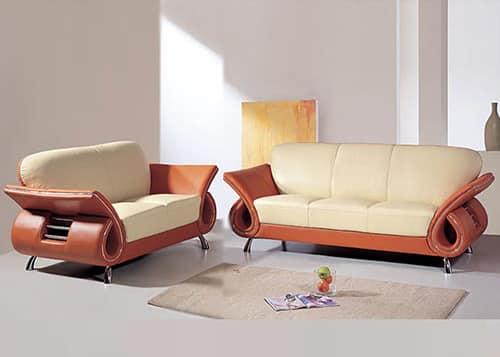 Moderná kožená sedacia súprava