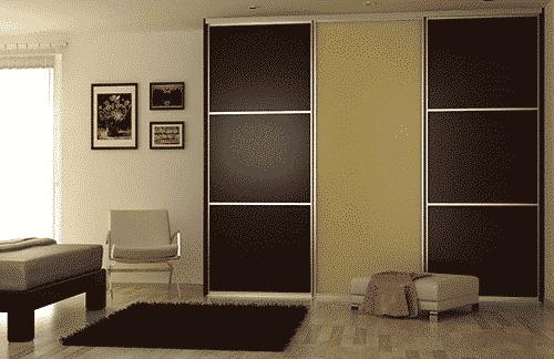 Moderná vstavaná skriňa do spálne