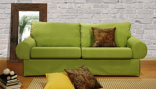 Moderná zelená sedačka