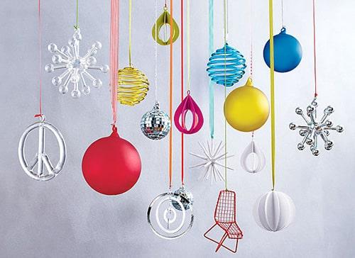 Moderné vianočné ozdoby
