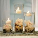 Plávajúce sviečky - vianočná dekorácia