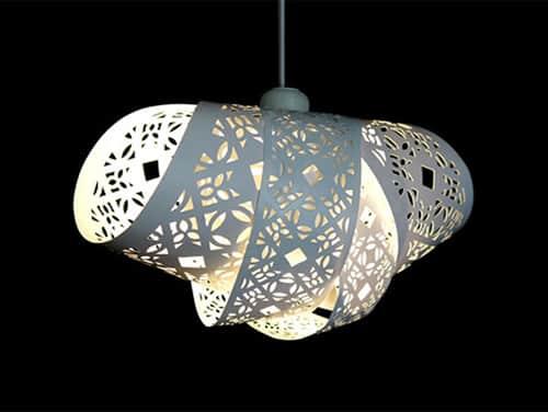 Dizajnová papierová lampa