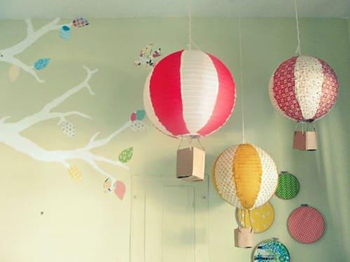 Papierové svietidlá - detská izba