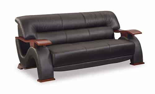 Moderná kožená sedačka - čierna
