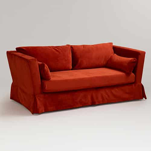 Červený poťah na sedačku