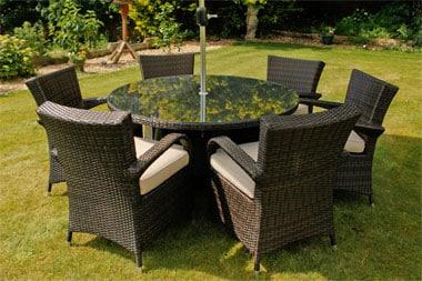 Záhradný ratanový nábytok