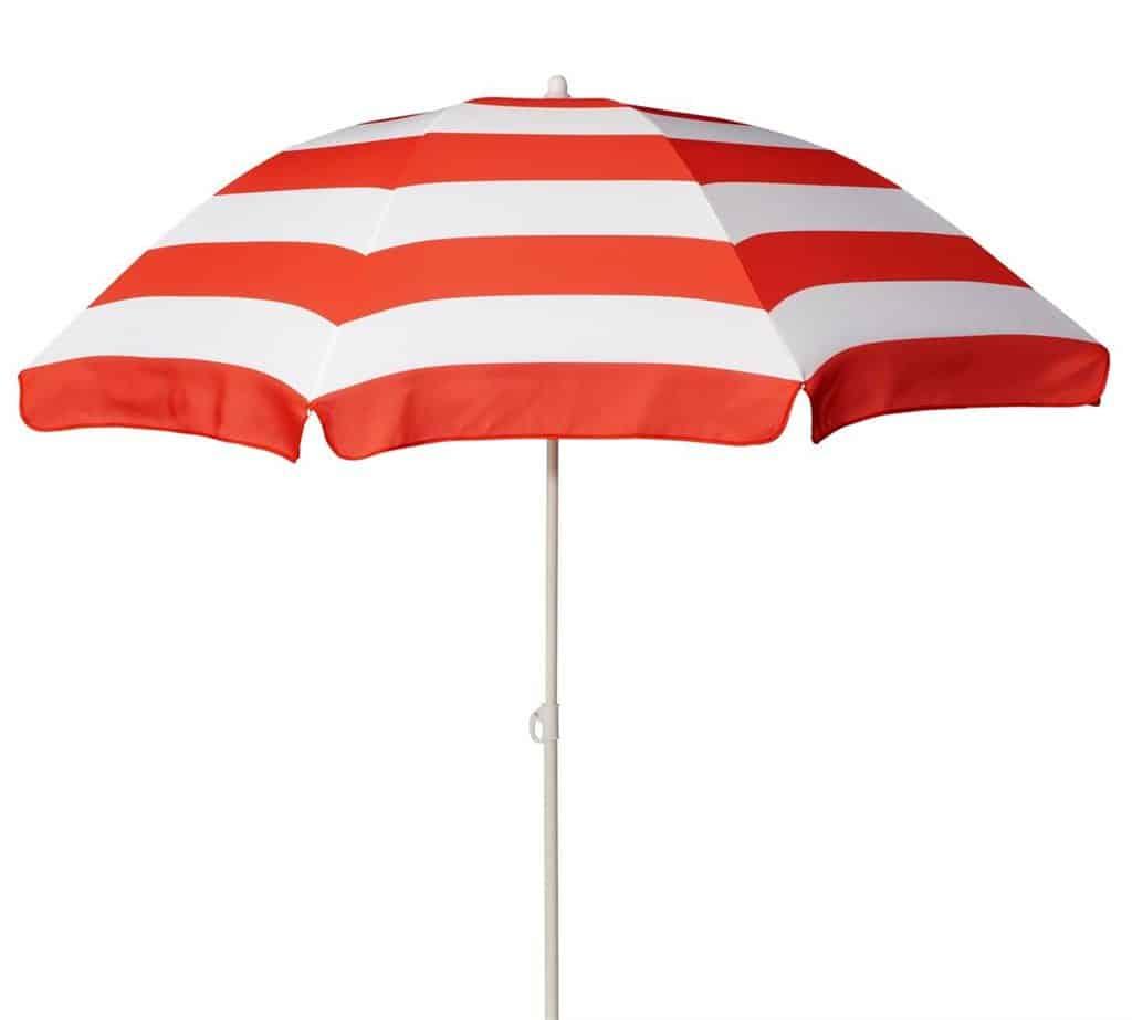 Klasický slnečník - červeno-biely