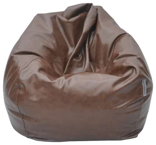 Kožený sedací vak - hnedý