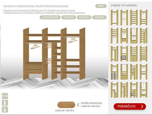 Návrh skrine - Aludoor.sk