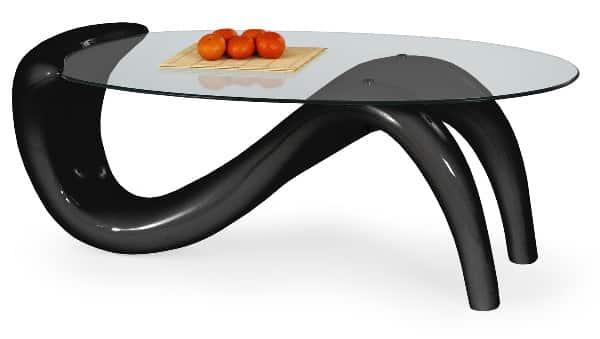 Sklenený konferenčný stolík - dizajnový