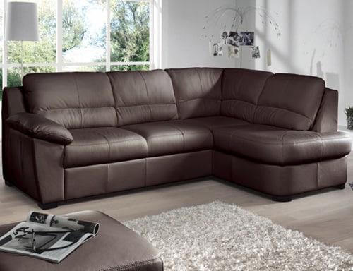 Kožený sedačka s úložným priestorom