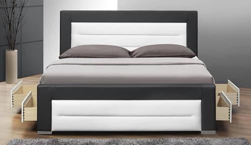 Manželská posteľ z ekokože