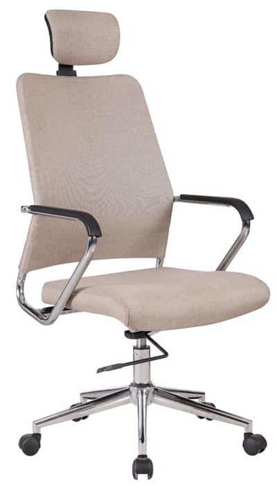 Béžová kancelárska stolička