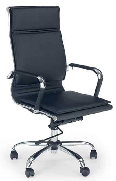 Čierna kožená stolička