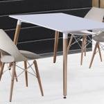 Moderný jedálenský stôl - biely