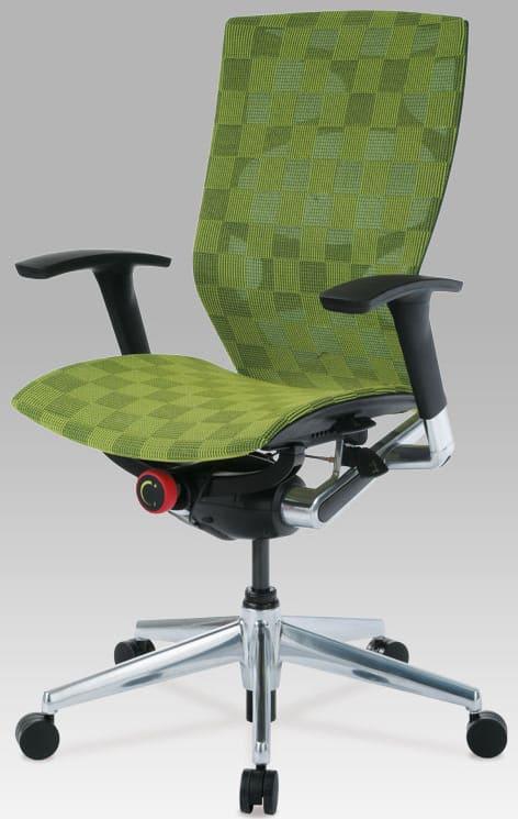 Zelená kancelárska stolička so sieťovým poťahom