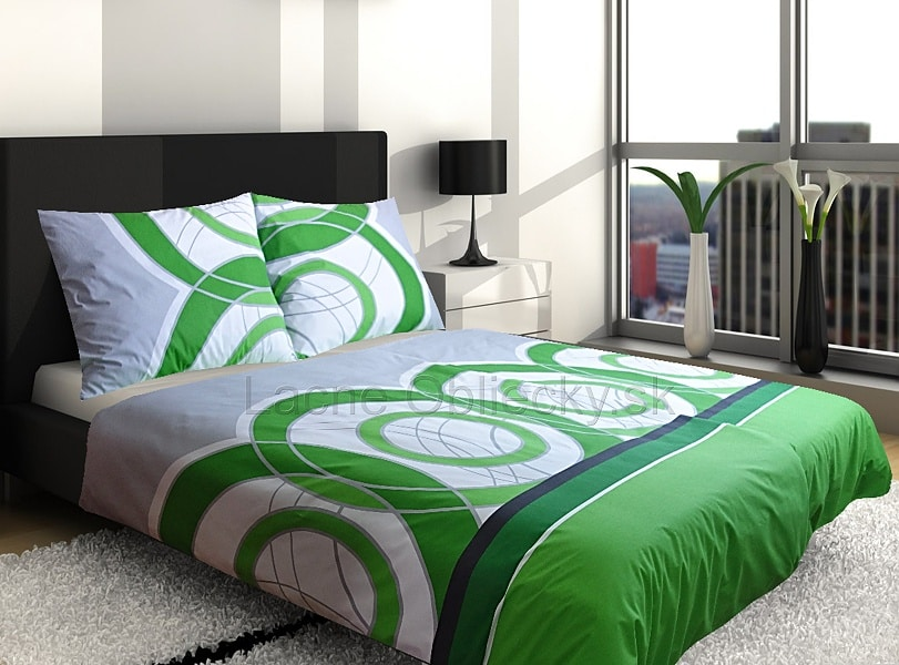 Zelené obliečky na posteľ