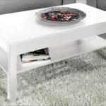 Jednoduchý konferenčný stolík - biely