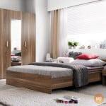 Lacná spálňa so šatnikovou skriňou