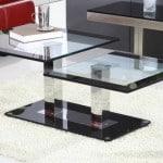 Moderný sklenený konferenčný stolík do obývačky