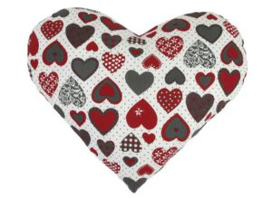 Dekoračný vankúšik - srdce