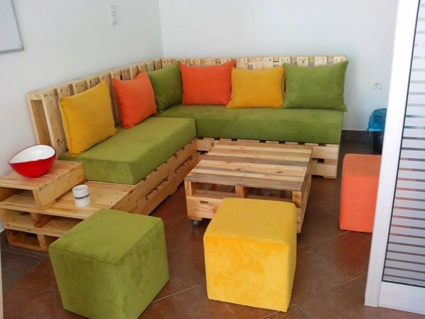 Obývačka z paliet