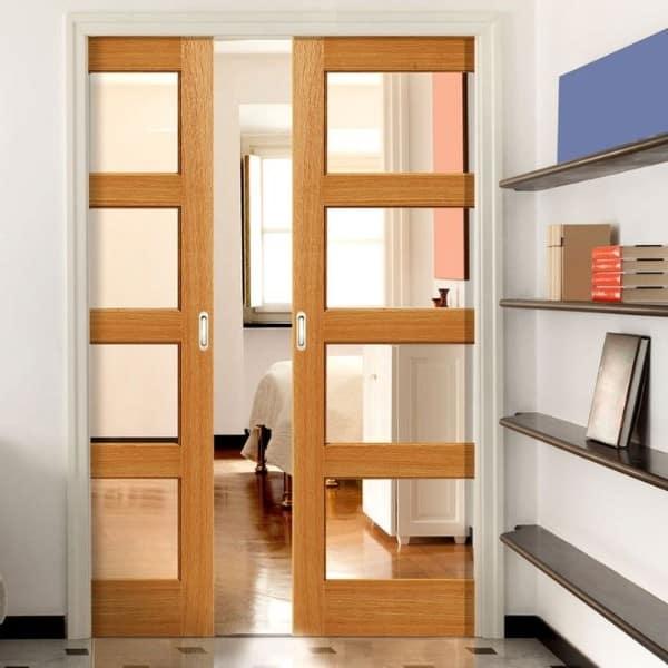Dvojkrídlové posuvné dvere