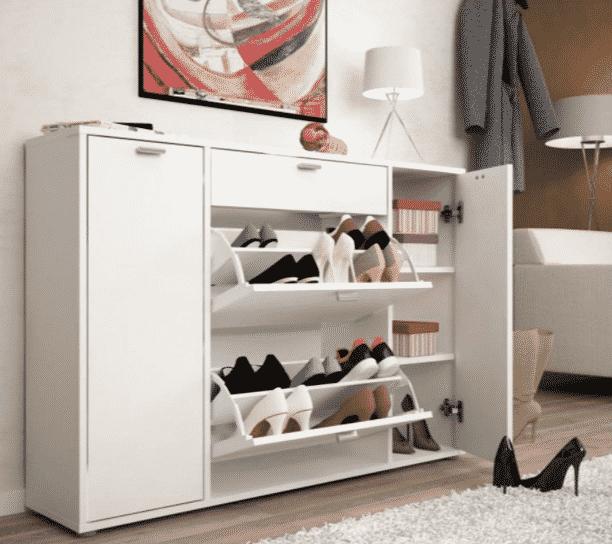 Biely botník na topánky